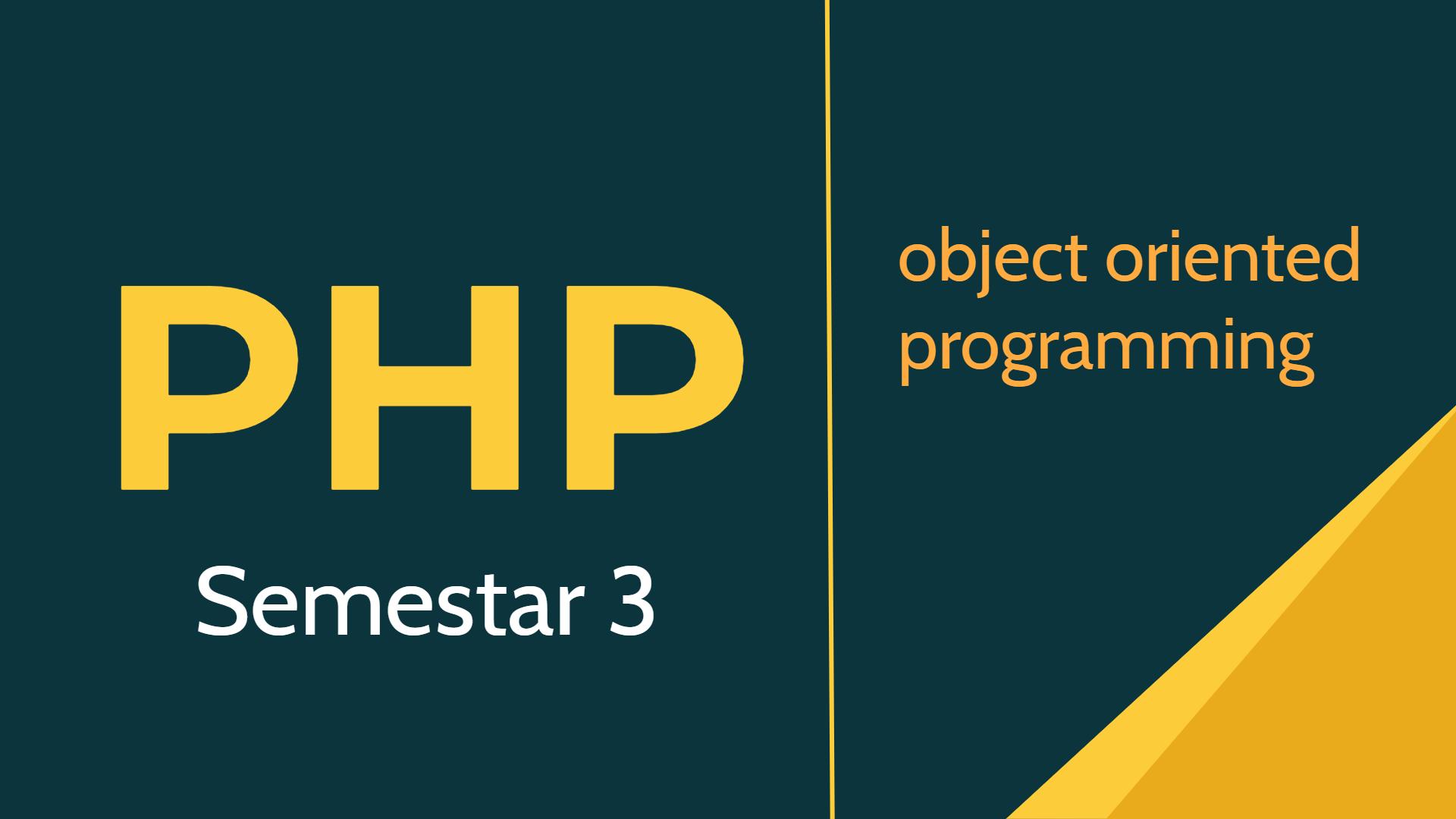 PHP - Semestar 3