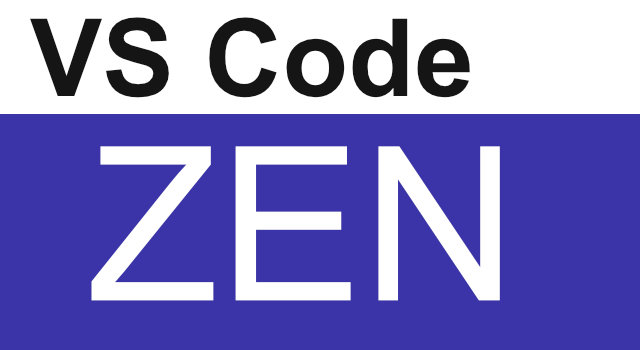 Visual Studio Code ZEN Mode
